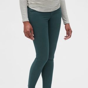 Maternity full panel true skinny mountain green 29